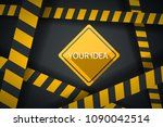 crime ribbon template. caution  ... | Shutterstock .eps vector #1090042514
