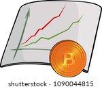 cartoon ascending chart with...   Shutterstock .eps vector #1090044815
