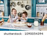 happy family funny kids are... | Shutterstock . vector #1090054394