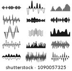 sound frequency waves. analog... | Shutterstock .eps vector #1090057325