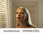 skincare  make up  visage....   Shutterstock . vector #1090061501