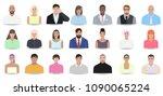 business portraits  people ... | Shutterstock .eps vector #1090065224