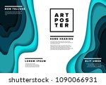 modern vector art poster flyer... | Shutterstock .eps vector #1090066931