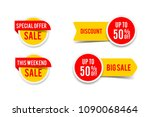 sale round banner set  circle... | Shutterstock .eps vector #1090068464