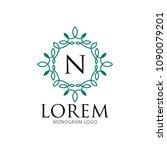 monogram frame logo template | Shutterstock .eps vector #1090079201