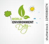 world environment day concept ... | Shutterstock .eps vector #1090080074