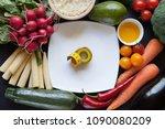 organic food background | Shutterstock . vector #1090080209