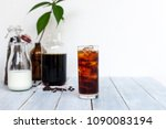 homemade cold brew iced coffee... | Shutterstock . vector #1090083194