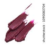 dark red smear of matte lip... | Shutterstock . vector #1090083704