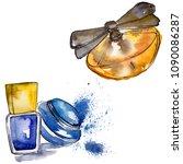 perfume sketch fashion glamour... | Shutterstock . vector #1090086287