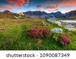 stunning sunset landscape ...   Shutterstock . vector #1090087349