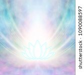 sacred lotus symbol   turquoise ... | Shutterstock . vector #1090088597