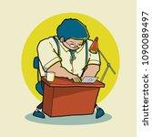 free hand illustration cartoon...   Shutterstock .eps vector #1090089497