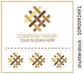 flat style vector logo parquet  ... | Shutterstock .eps vector #1090092491