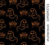abstract seamless halloween... | Shutterstock .eps vector #1090093721