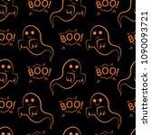 abstract seamless halloween... | Shutterstock .eps vector #1090093721