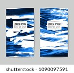 set of vector business card... | Shutterstock .eps vector #1090097591
