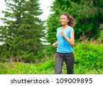 young beautiful athlete woman...   Shutterstock . vector #109009895