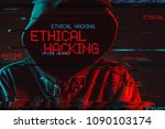 ethical hacking concept with... | Shutterstock . vector #1090103174