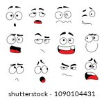 smile emoticons and emoji faces ... | Shutterstock .eps vector #1090104431