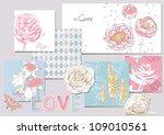 beauty set of scrapbook design... | Shutterstock .eps vector #109010561