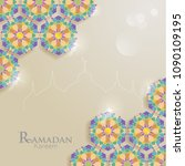 islamic ornaments with...   Shutterstock .eps vector #1090109195