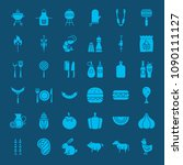 barbecue solid web icons.... | Shutterstock .eps vector #1090111127