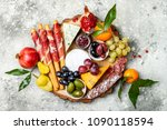 appetizers table with antipasti ... | Shutterstock . vector #1090118594