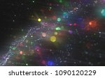 abstract blue bokeh circles....   Shutterstock . vector #1090120229