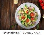 vegetable salad with avocado ... | Shutterstock . vector #1090127714