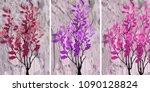 collection of designer oil... | Shutterstock . vector #1090128824