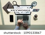 keywords research communication ... | Shutterstock . vector #1090133867