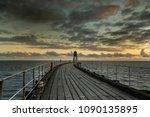 whitby harbour  yorkshire ... | Shutterstock . vector #1090135895