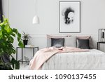 gray and silver cushions lying... | Shutterstock . vector #1090137455