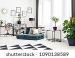 plant on table in scandi... | Shutterstock . vector #1090138589