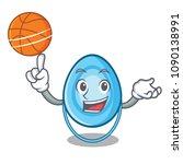 with basketball oxygen mask... | Shutterstock .eps vector #1090138991
