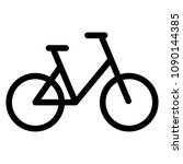 bicycle icon  flat design style ... | Shutterstock .eps vector #1090144385