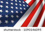 waving national flag of united... | Shutterstock .eps vector #1090146095