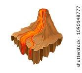 isometric volcano island with...   Shutterstock .eps vector #1090148777
