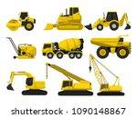 flat vector set of construction ...   Shutterstock .eps vector #1090148867