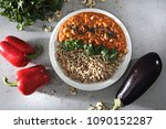 tasty colorful dish.  groats... | Shutterstock . vector #1090152287