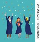 vector illustration graduation... | Shutterstock .eps vector #1090155965