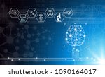 abstract background technology... | Shutterstock .eps vector #1090164017