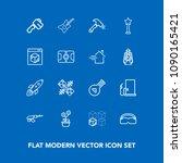 modern  simple vector icon set... | Shutterstock .eps vector #1090165421