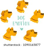 cartoon vector set of dogs... | Shutterstock .eps vector #1090165877