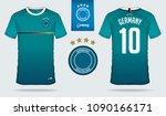set of soccer jersey or... | Shutterstock .eps vector #1090166171