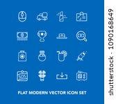modern  simple vector icon set... | Shutterstock .eps vector #1090168649