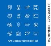 modern  simple vector icon set... | Shutterstock .eps vector #1090168664