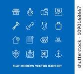 modern  simple vector icon set...   Shutterstock .eps vector #1090168667