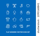 modern  simple vector icon set... | Shutterstock .eps vector #1090168841
